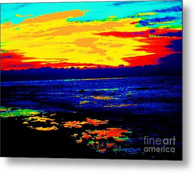 Metal Print featuring the photograph Ocean Sunset by Jasna Gopic