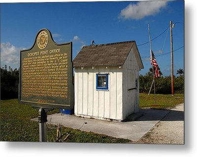 Ochopee Post Office Metal Print by David Lee Thompson
