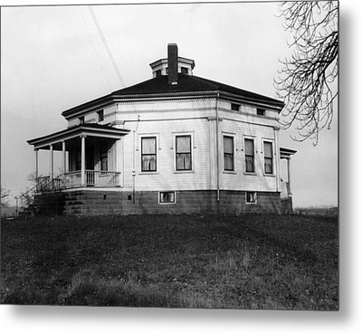 Octagonal House Used Metal Print by Everett