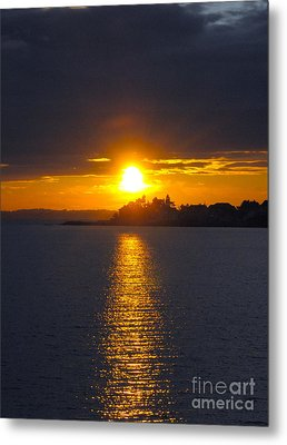 October Connecticut Sunset Metal Print by Cindy Lee Longhini