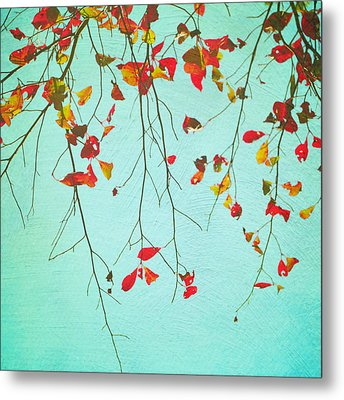 October Greetings Metal Print by Sharon Coty