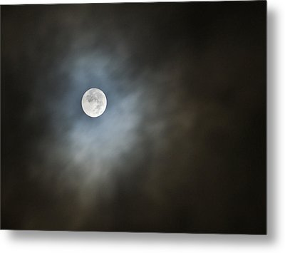 Metal Print featuring the photograph October Moon by Steve Sperry