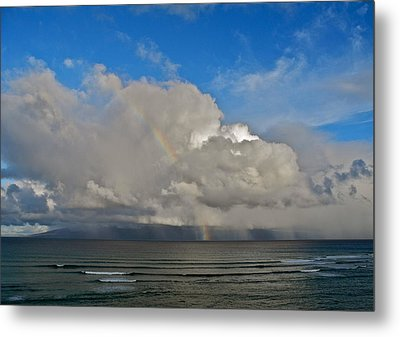 Metal Print featuring the photograph October Rainbow In Maui by Kirsten Giving