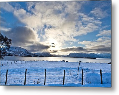 October Snow Metal Print by Frank Olsen