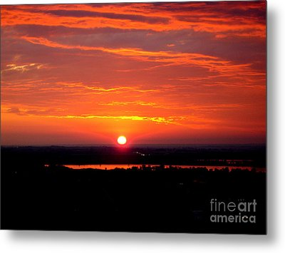 October Sunrise Metal Print by Marilyn Magee