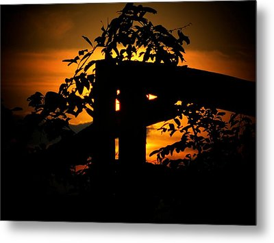 October Sunset Metal Print by Michael L Kimble