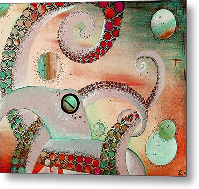 Octopus Tangle Metal Print by Adrienne McMahon