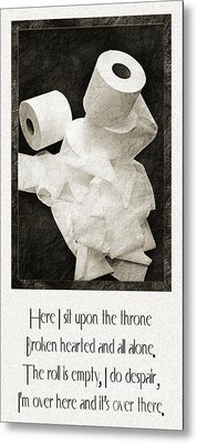Ode To The Spare Roll Metal Print by Andee Design