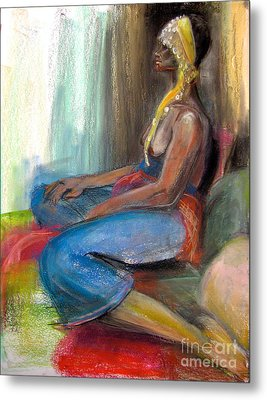 Metal Print featuring the drawing Odelisque 2 by Gabrielle Wilson-Sealy