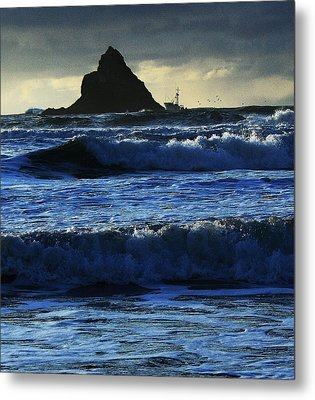 Off Arch Cape Metal Print