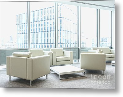 Office Interior Metal Print by Dave & Les Jacobs