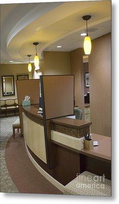 Office Reception Area Metal Print by Andersen Ross
