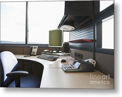 Office Work Station Metal Print