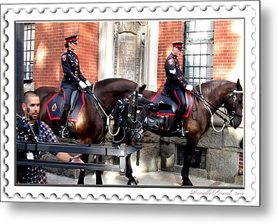 Officer Griffin On Chch Tv And  Cbc Metal Print by Danielle  Parent