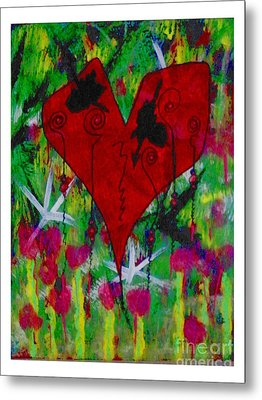Oh My Green Heart Metal Print by Donna Daugherty