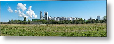Metal Print featuring the photograph Oil Refinery by Hans Engbers