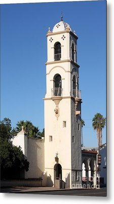Metal Print featuring the photograph Ojai Post Office Tower by Henrik Lehnerer
