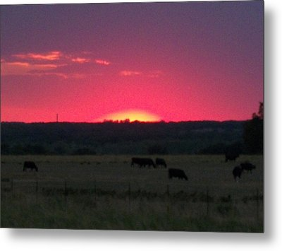 Okie Sunset Metal Print by Adam Cornelison