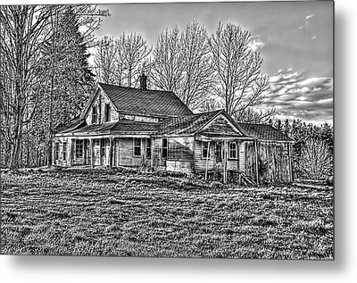 Old Abandoned Farmhouse Metal Print