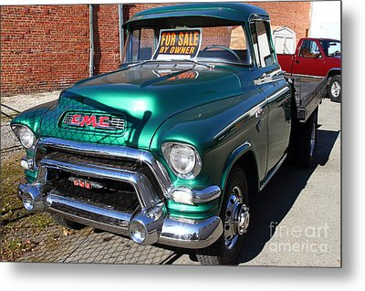Old American Gmc Truck . 7d10665 Metal Print by Wingsdomain Art and Photography