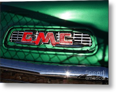 Old American Gmc Truck . 7d10666 Metal Print by Wingsdomain Art and Photography