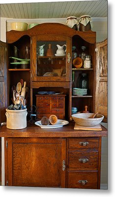 Old Bakers Cabinet Metal Print by Carmen Del Valle