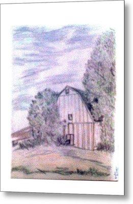 Old Barn Metal Print by De Beall