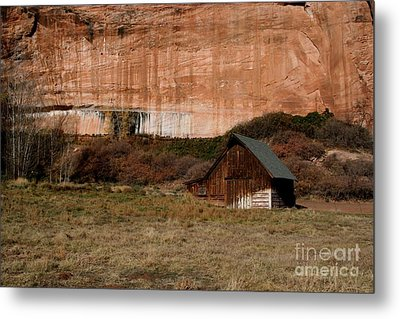 Metal Print featuring the photograph Old Barn In Angel Canyon #1  by Nola Lee Kelsey