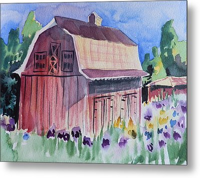 Old Barn In Payson Metal Print