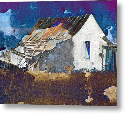 Old Village Metal Print