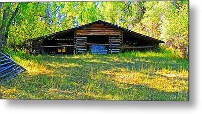 Old Barn With Wings Metal Print by Lenore Senior and Dawn Senior-Trask