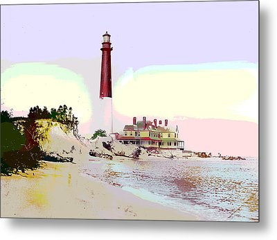 Old Barney Lighthouse Metal Print by Charles Shoup