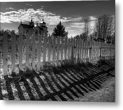 Old Beliefs And Shadows Metal Print by Michele Cornelius