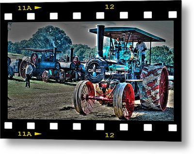 Old Case Tractor Metal Print