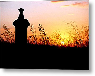 Old Cemetary In A Farm Field Metal Print by Kimberleigh Ladd