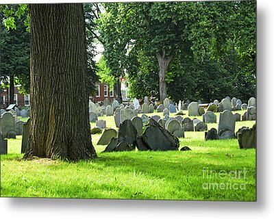 Old Cemetery In Boston Metal Print