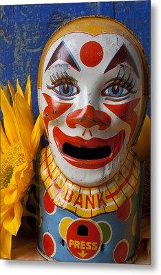 Old Clown Bank Metal Print by Garry Gay