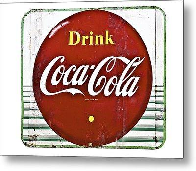 Old Coke Sign Metal Print by Susan Leggett