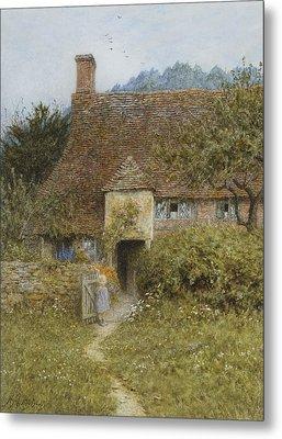 Old Cottage Witley Metal Print by Helen Allingham