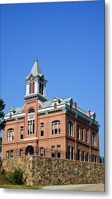 Old Courthouse Powhatan Arkansas 1 Metal Print by Douglas Barnett