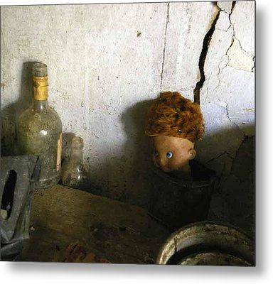 Old Doll In The Attic Metal Print by Draia Coralia