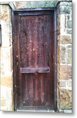 Old English Door Metal Print by Shawn Hughes
