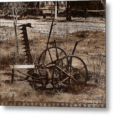 Metal Print featuring the photograph Old Farm Equipment by Blair Stuart