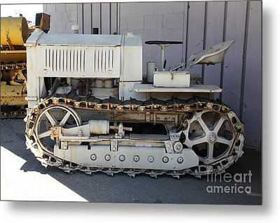 Old Farm Tractor . 5d16597 Metal Print by Wingsdomain Art and Photography