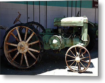 Old Farm Tractor . 5d16619 Metal Print by Wingsdomain Art and Photography