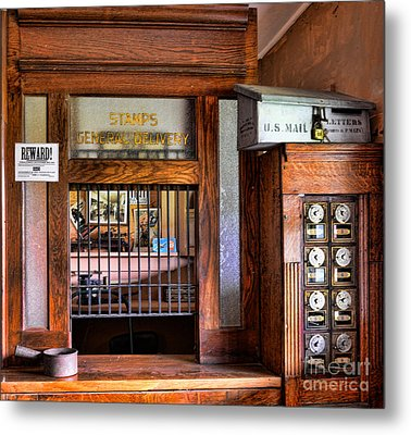 Old Fashion Post Office Metal Print by Paul Ward