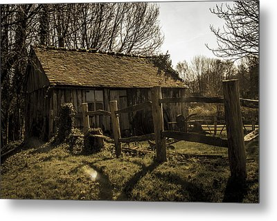 Old Fashioned Shed Metal Print by Dawn OConnor