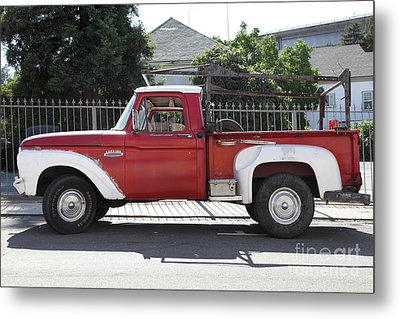 Old Ford 100 Truck . 5d16794 Metal Print by Wingsdomain Art and Photography