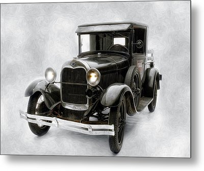 Old Ford Metal Print by Gary Rose