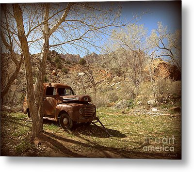 Metal Print featuring the photograph Old Ford by Tanya  Searcy